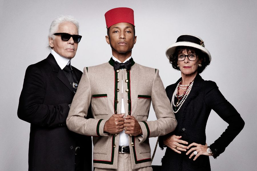 capa-karl-lagerfeld-pharrell-williams-cara-delevingne-chanel