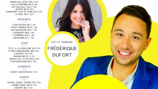 Cette semaine à Studio M : Frédérique Dufort