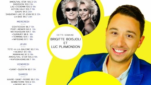 Cette semaine à Studio M : Brigitte Boisjoli et Luc Plamondon