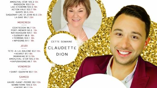 Cette semaine à Studio M : Claudette Dion (spéciale Noël)
