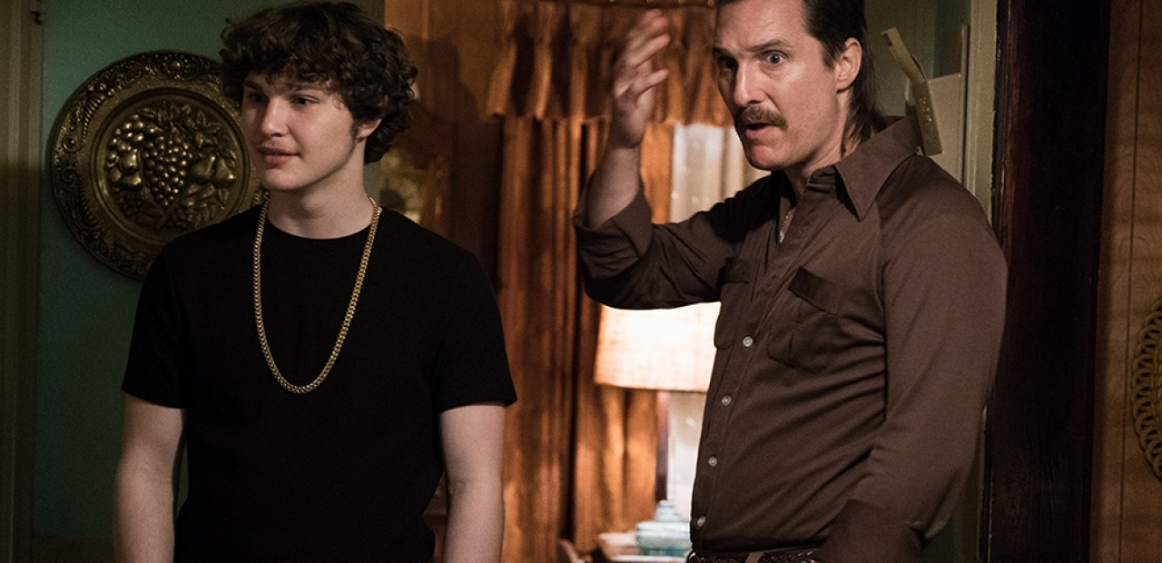 Richie Merritt, left, and Matthew McConaughey star as Richard Wershe Jr. and Richard Wershe Sr. in Columbia Pictures' and Studio 8's WHITE BOY RICK.